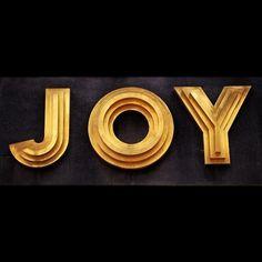 JOY in Typography