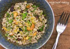 Persian Brown Rice and Cashew Salad.  This looks yummy!