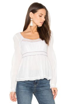 Free People Strangers in Love Top in Ivory