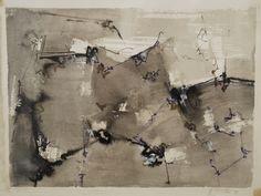 """""""Ahora queda la sombra"""" - Heriberto Zorrilla - Tintas y lápiz de color sobre papel, 28 x 38 cm, 1992 www.esencialismo.com"""