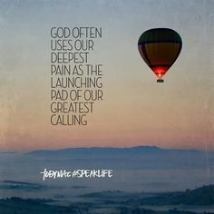 God often uses our deepest pain as the launching pad of our greatest calling. Bible Verses Quotes, Faith Quotes, Wisdom Quotes, Scriptures, Wisdom Bible, Godly Quotes, Meaningful Quotes, Inspirational Quotes, Motivational