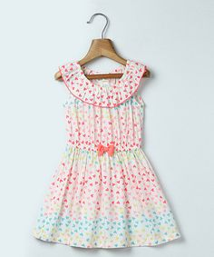 Look what I found on #zulily! Pink Heart Print Dress - Infant, Toddler & Girls #zulilyfinds