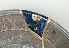 Hecho a la medida de la cerámica Kintsugi / Kintsukuroi reparado con efecto del oro