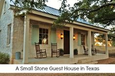 Small Stone Guest House in Texas