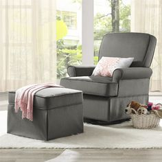 Found it at Wayfair - Baby Relax Varna Swivel Glider and Ottoman