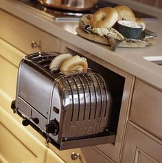 Ah ha!  No more pulling the toaster out of the cupboard and spilling all those bread crumbs.