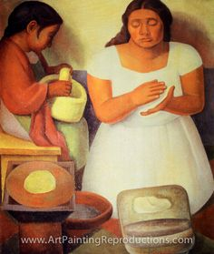 Painter and muralist Diego Rivera sought to make art that reflected the lives of the working class and native peoples of Mexico Diego Rivera Art, Diego Rivera Frida Kahlo, Mexican Artists, Mexican Folk Art, Fresco, Frida E Diego, Hispanic Art, Mural Painting, Paintings