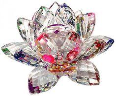 Amlong Crystal Sparkle Lotus Flower Feng Shui Home Decor  #AmlongCrystal