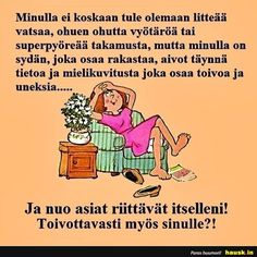 Aloittaa päiväsi hymy! Le Pilates, Live Life, Funny Texts, Sarcasm, Poems, Mindfulness, Mood, Thoughts, Sayings