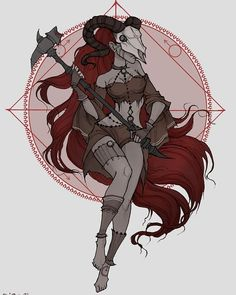 Aries - Witchy Zodiac by Iren Horror Arte Aries, Aries Art, Zodiac Art, Zodiac Signs, Leo Zodiac, Zodiac Symbols, Art And Illustration, Art Illustrations, Fantasy Kunst