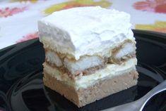 Gesztenyés habos szelet sütés nélkül. Gyorsan elkészül! - Egy az Egyben Cheesecake, Sweets, Baking, Health, Foods, Website, Food Food, Food Items, Gummi Candy