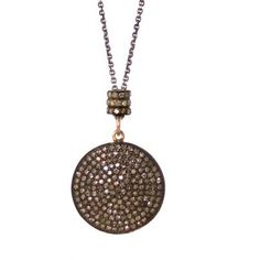 Zoe Chicco Pave Diamond Disc Necklace