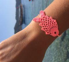 Crochet Mask, Crochet Gloves, Knit Crochet, Crochet Rings, Crochet Necklace, Yarn Crafts, Fabric Crafts, Collar Hippie, Beaded Braclets