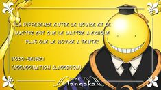 Because failure is an essential part of all learning. Whatever our goals, don't be discouraged! Anime Neko, Otaku Anime, Koro Sensei, Assasination Classroom, Manga Quotes, Hisoka, Some Words, Fun Facts, Funny Memes