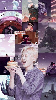 xiumin and steven universe. Baekhyun, Exo Chanbaek, Exo Ot12, Exo Music, Kai, Exo Lockscreen, Artist Logo, Xiuchen, Kim Min Seok