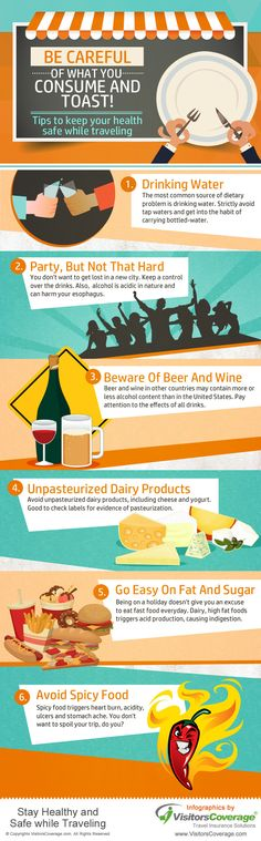 Tips to Keep your Health Safe While Traveling #infographic #Health #Travel