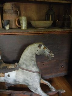"""Early Horse... I have just the corner for this """"pony"""" ~ Lovely piece."""