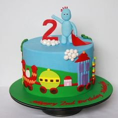 in the night garden cake Birthday Cakes For Men, Garden Birthday Cake, 1st Birthday Cakes, 1st Boy Birthday, Birthday Ideas, Postman Pat Cake, Cbeebies Cake, Jake Cake, School Cake
