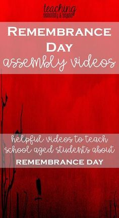 This list of Remembrance Day Videos will help any teacher plan an assembly or help their students reflect. Poems, songs and thoughtful quotes are included in the various videos. Remembrance Day Poems, Remembrance Day Activities, November 11 Remembrance Day, Teaching Social Studies, Teaching Tips, Teaching Music, Full Day Kindergarten, Kindergarten Classroom, Primary Science