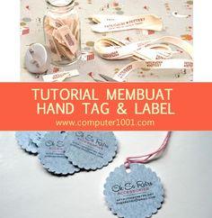 Artikel ini menyajikan 11 tutorial untuk membuat sendiri hang tag dan label merek produk.