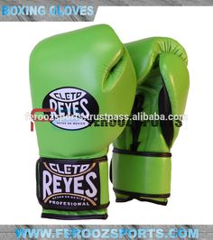 Cleto Reyes Official Boxing Gloves Citrus Green Genuine Leather Professional and Training gloves