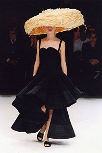 Yohji Yamamoto....Lord knows I love a big hat AND an entrance!!! Believe this covers it!