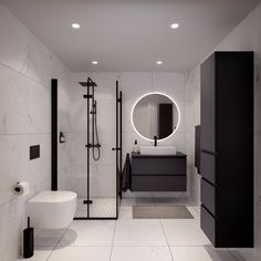 Contemporary Bathroom Designs, Bathroom Design Luxury, Contemporary Apartment, Bathroom Design Small, Small Wet Room, Man Bathroom, Shower Cubicles, Dream Bathrooms, House Layouts