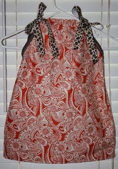 Tutorial on how to make pillowcase dresses!