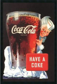 "0-028831>37x25"" Coca-Cola Have a Coke Framed Art Gel Coated"