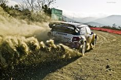 It's the Loeb-inator cutting it up in his Citroën DS3 WRC.
