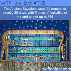 Ancient Egyptian Calendar - WTF FUN FACTS Im so proud of myself! I knew this! Thanks uncle rick, lol Wtf Fun Facts, Funny Facts, Random Facts, Crazy Facts, Random History Facts, Strange History, Random Stuff, Ancient Egypt, Ancient History