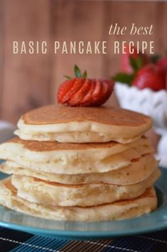 For years I used a box mix to make pancakes until I discovered I could make delicious pancakes from scratch for a fraction of the price. Homade Pancakes Recipe, Best Homemade Pancakes, Yummy Pancake Recipe, Tasty Pancakes, Homemade Pancake Recipes, Basic Pancake Mix Recipe, Pancake Recipe For Kids, Easy Pancake Mix, Pancake Breakfast
