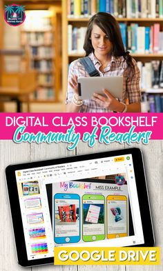 This digital class bookshelf will allow students and teachers to share what they are reading. Great for independent reading programs, like book clubs and literature circles, in distance learning and classrooms! Middle School Ela, Middle School English, Teaching Literature, Teaching Reading, English Classroom, English Teachers, Social Studies Classroom, Common Core Reading, Literature Circles