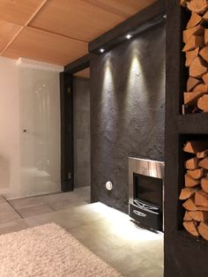 Tunnelheater, Dressing room ideas, harvia saunastove, diy lodge shelf, stove ideas, kiuas, kiuas Harvia, tunnelitakka Harvia, halkoteline DIY