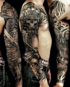 Best Tattoo Ideas for Men - Snake, samuraim skull - These 3 tattoos are among the most popular tattoo ideas ...