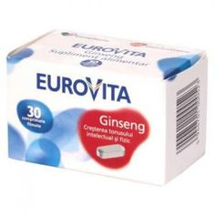 Eurovita Ginseng Europharm 30 comprimate E Commerce, Personal Care, Minerals, Ecommerce, Self Care, Personal Hygiene