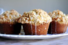 In this muffin recipe I combine two of my favorite things; lemonandcoffee cake!Coffee cake that'stopped with a yummy crumble and drizzled with a lemony glaze… anddid I mention it'sin ajumbo muffinform?! Perfect for on the go eating! These would alsomake anexcellent brunch item, packed along fora picnic or even split one with a friend… not …
