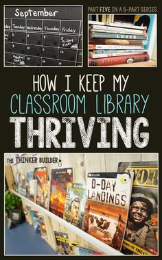 This is probably the BEST series of posts I've read about classroom libraries! How I Keep My Classroom Library THRIVING: the and final part of the series, from The Thinker Builder. Future Classroom, School Classroom, Classroom Libraries, Classroom Ideas, Classroom Layout, Classroom Library Checkout, Classroom Routines, School School, Middle School