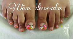 Uñas de pies Feet Nail Design, Feet Nails, Nail Designs, Nail Art, Classy Nails, Red, Nail Desings, Nail Design, Nail Organization