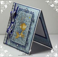 Handmade Christmas Card using Wild Rose Studio new releases and some Crafty Ribbons new release Image - Reindeer Flying Papers - Frosted Lace Dies - Snow Frame Ribbon White Christmas Happy Christmas Cobalt Blue Downrightcrafty