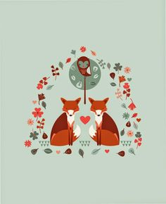 The ever popular fox, in a beautiful motif, available in repeat too. From The Chalk Lion #abitofacharacter
