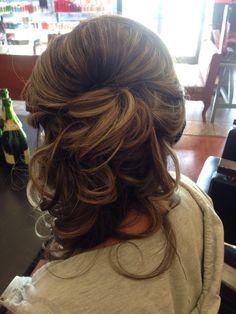 My Bridesmaid hair for Rachael and George's wedding
