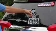 WiperTags Crazy Killer Clown with Decal attaches to Rear Vehicle Wiper