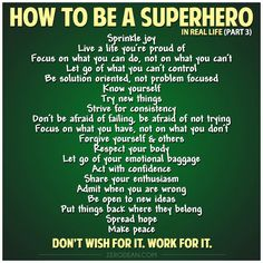 """Be solution oriented, not problem focused."" How to be a #Superhero (in Real Life) - Zero Dean"