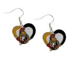 Ottawa Senators Women's Swirl Heart Earrings