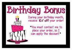 Scentsy Birthday Bonus: Love the idea of my customers celebrating their birthday with me!!! :) ScentsbyKris.Scentsy.us