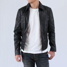 【楽天市場】【送料・代引料無料】【Safari Leon SENSE掲載ブランド】Nudie Jeans(ヌーディージーンズ)/JONNY LEATHER JACKET(ヤギ本革 レザージャケット)【BLACK】(38161-5007):HELLOS