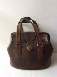 Coach vintage Bonnie cashin Mahogany Brown framed purse Doctor bag hard to find Summer Handbags, Fall Handbags, Straw Handbags, Popular Handbags, Trendy Handbags, Vintage Handbags, Vintage Bags, Handbags Online, Denim Handbags