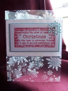 Christmas Snowflake on Acetate Card