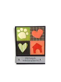 Sympathy Card Pet Sympathy Card Loss of Pet Card. $3.00, via Etsy.